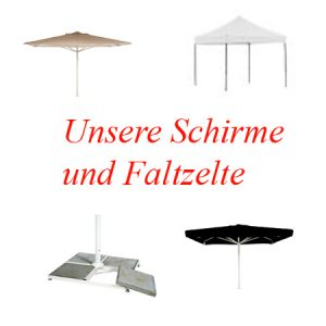Schirme-Faltzelte