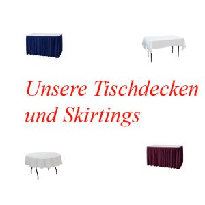 Tischtücher/Skirtings